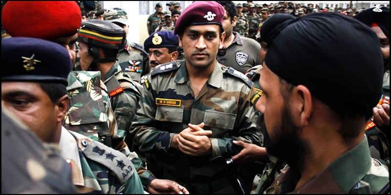 India's Dhoni to carry out army duty in Kashmir conflict