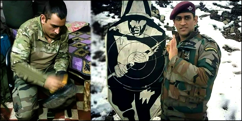 Image result for dhoni in army