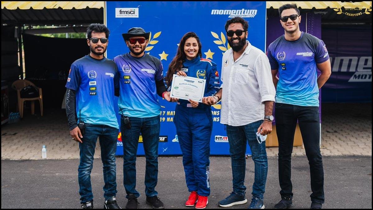 Nivetha Pethuraj becomes a certified car racer- News