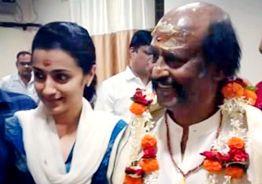 Trisha finds Rajini 'God-like' after temple visit
