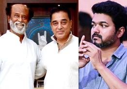SAC requests Kamal and Rajini to give way for Vijay in politics