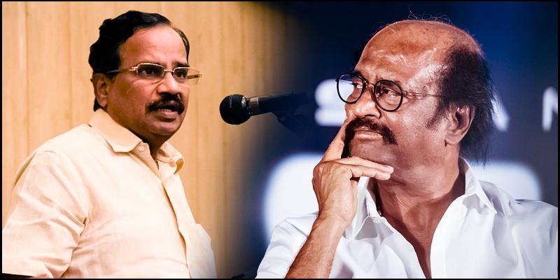 Image result for ரஜினி vs தமிழருவி மணியன்