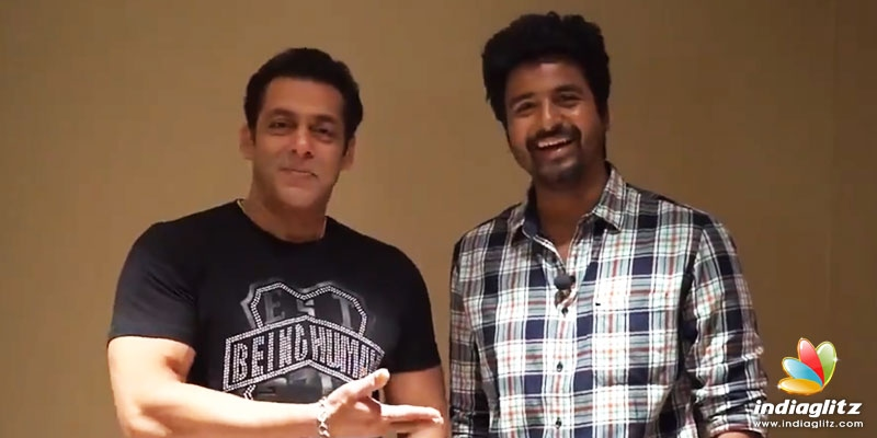 WOW! Salman Khan and Sivakarthikeyan unite for each other - Video