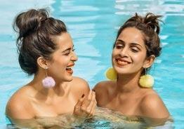 Samyuktha Karthik's swimming pool clicks with her friend scorches social media