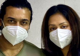 Suriya and Jyothika get vaccinated against COVID 19