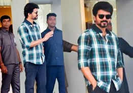 Latest picture of Vijay from the sets of Thalapathy 64