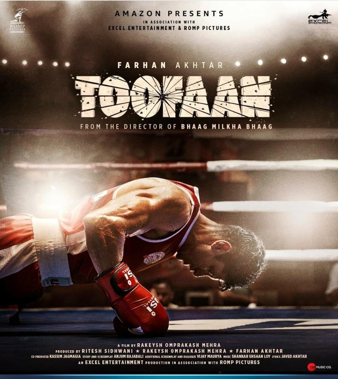 Check the astonishing posters of Farhan Akhtar's 'Toofan' - Bollywood News - IndiaGlitz.com