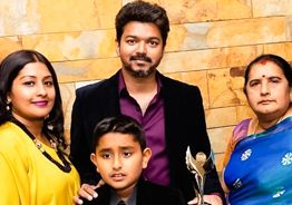 Thalapathy Vijay receives International Best Actor Award in the UK in person