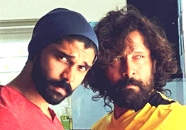 Chiyaan Vikram and Dhruv Vikram's latest mass photo confuses fans to the max
