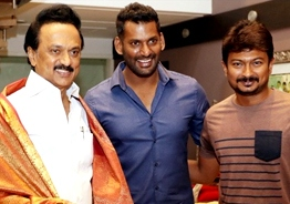 Vishal meets Stalin and Udhayanidhi!