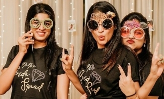Young Tamil actress hosts bachelorette party before wedding