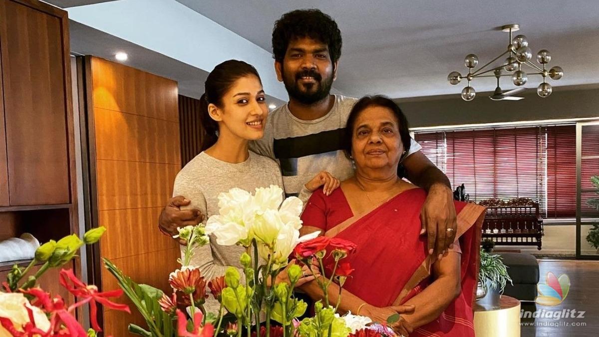 Nayanthara Celebrates Moms Birthday With Vignesh Shivan