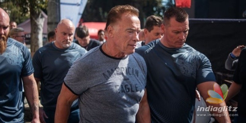 Arnold Schwarzenegger attacked from behind in South Africa