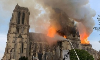 Massive fire destroys twelfth century Notre Dame Cathedral in Paris