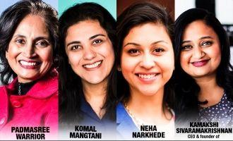 Forbes list features 4 Indian origin women