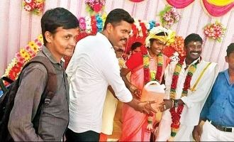 bride and groom receive petrol as wedding gift cuddalore fuel price hike tamil nadu