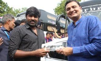 Vijay Sethupathi flags off  'Seethakathi Express' buses
