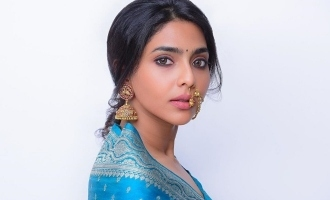 Dhanush heroine borrows her mother's saree and rocks in retro look