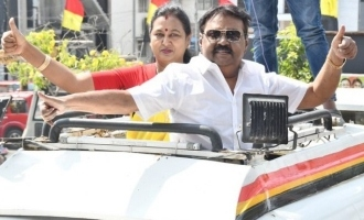 Captain Vijayakanth latest photos election campaign DMDK TN Elections 2021
