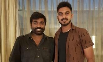 CSK allrounder Vijay Shankar meets Vijay Sethupathi