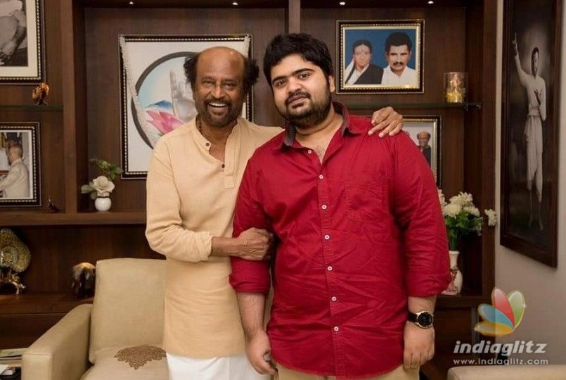 T.Rajendhar and Kuralarasan meet Rajinikanth