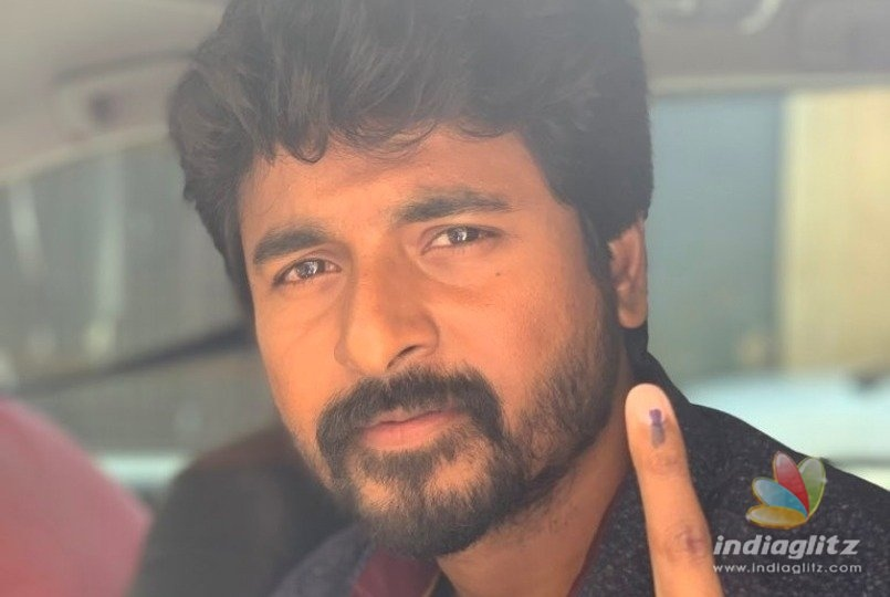 Issues sorted ! Sivakarthikeyan fights for his right to vote and wins