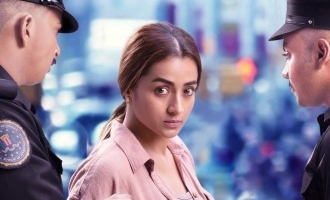 Trisha challenges international police -  'Raangi' first look poster out