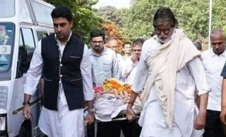 Amitabh and Abhishek great honour for his dead servant