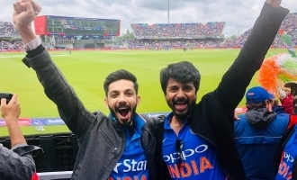 Anirudh and Sivakarthikeyan in England to cheer India against Pakistan