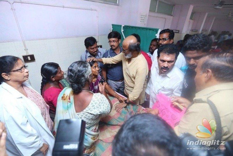 Rajinikanth gets huge reception in Tuticorin announces cash relief