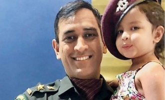 Dhoni daughter video goes to viral