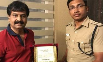 Vivek gets appreciation shield from the Police Department