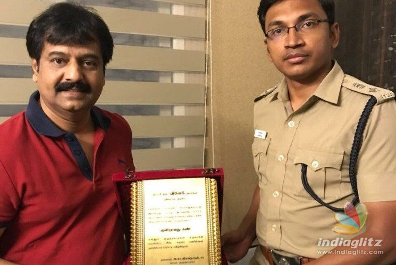 Vivek gets appreciation from the Police Department