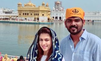 Naynathara & Vignesh Shivn Visited Golden Temple