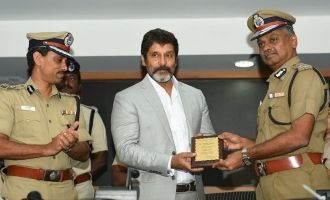 Vikram's 'Third Eye' add CCTV awareness program is launched today at Commissioner office, Chennai