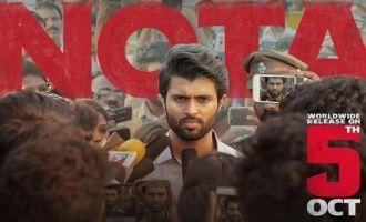 Vijay Devarakonda's Tamil debut NOTA - An unexpected censor result