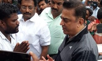 Kamal Haasan visits Gaja Cyclone affected areas with 70 lorries