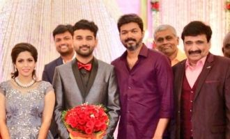 Vijay at Ramesh Kanna Son Wedding Reception
