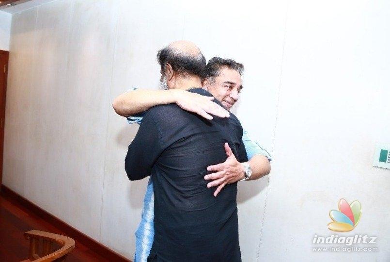 Rajini meets Kamal at his home