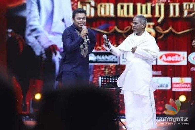 Historic Moment ! Ilayaraja sings in A.R. Rahman music