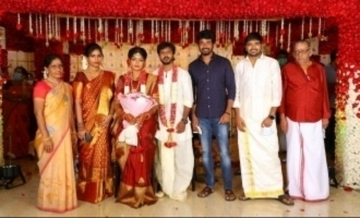Sivakarthikeyan attends actor Sathish's brother in law's wedding