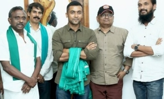 Suriya felicitated for 'Kaappaan'