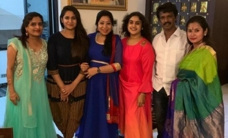 Losliya and Cheran attend Vanitha Vijayakumar's daughter's function