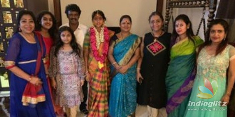 Losliya and Cheran attend Vanitha Vijayakumars daughters function