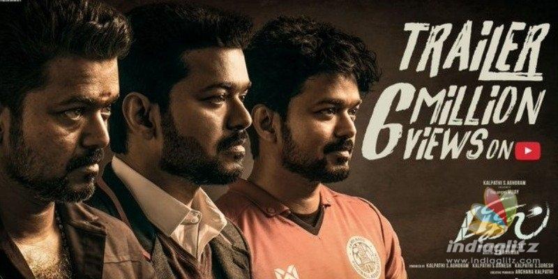 Thalapathy Vijays Bigil trailer attracts Hollywood-Bollywood celebs