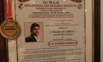 Harris Jayaraj conferred Doctorate - A.R.Rahman and other celebs applaud