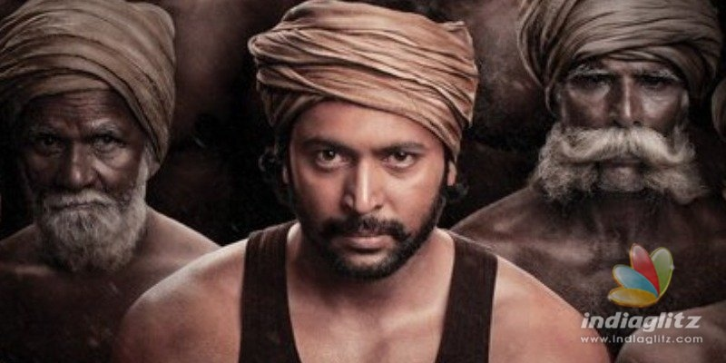Jayam Ravis Bhoomi intense first look poster released