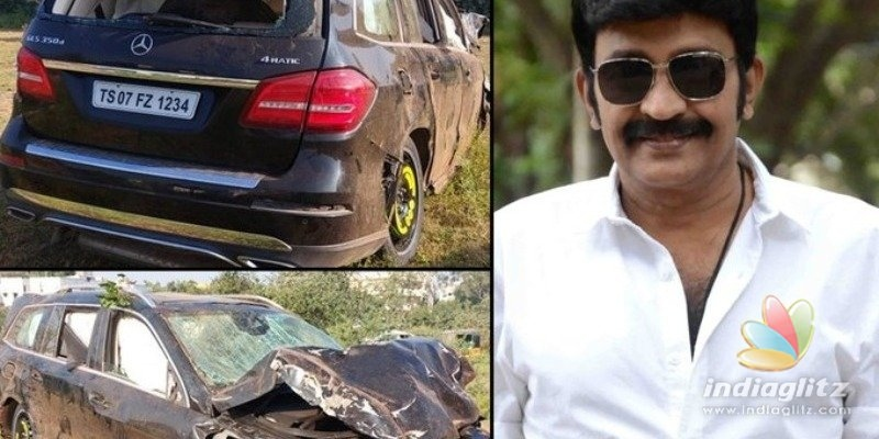 Veteran hero Dr. Rajasekhar involved in serious car accident