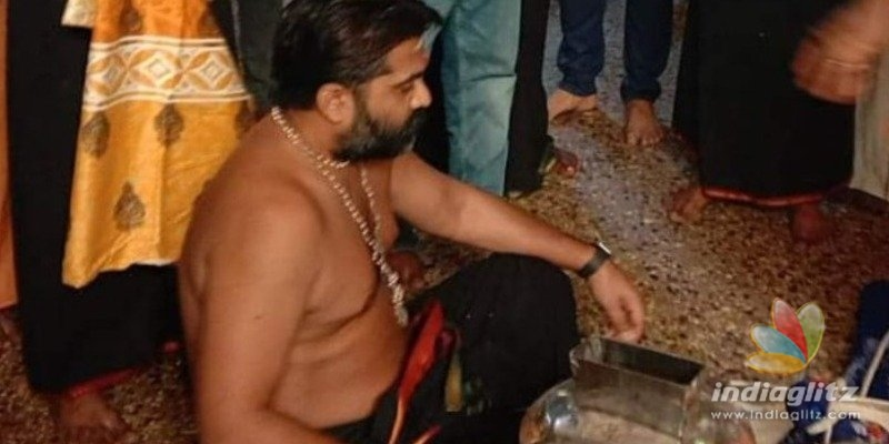 Simbu starts his spiritual journey to Sabarimala today