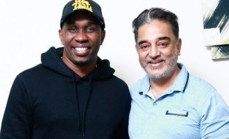 Dwayne Bravo's sudden meeting with Kamal Haasan